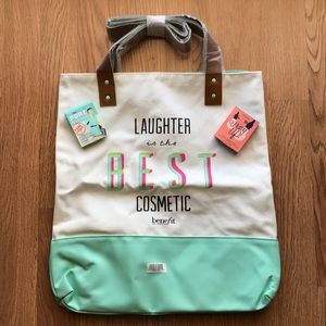 Brand new Benefit tote bag with samples